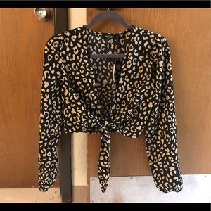 Nasty Gal Cheetah Crop